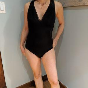 Stella McCartney one piece black bathing suit!